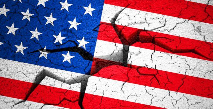 broken american flag civil war