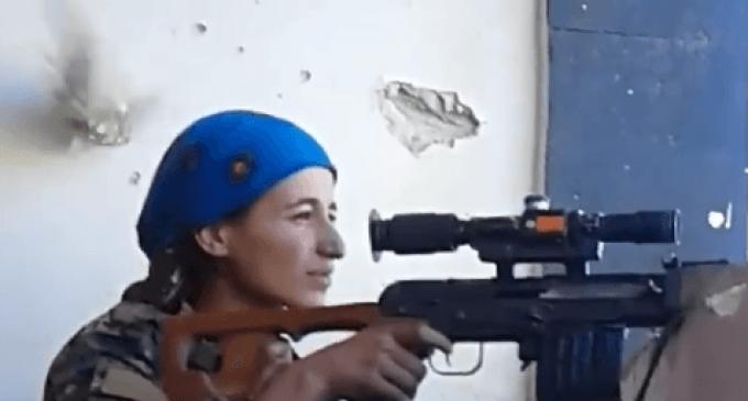 Fierce Woman Kurdish Sniper Laughs Off Near-Fatal ISIS Bullet