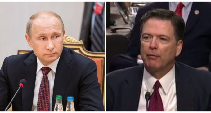 Putin Offers Comey Asylum in Russia if Former FBI Director is Charged with Crime
