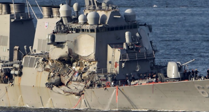 Container Ship Captain Makes Claims About Navy Destroyer Movements Leading Up to Collision