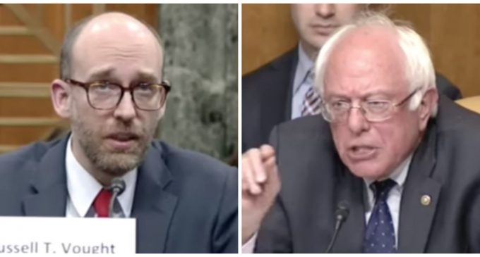 Sanders Opposes Budget Director Nominee Because of Christian Viewpoints