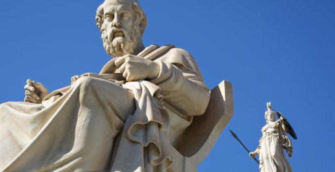 marble statue plato athena