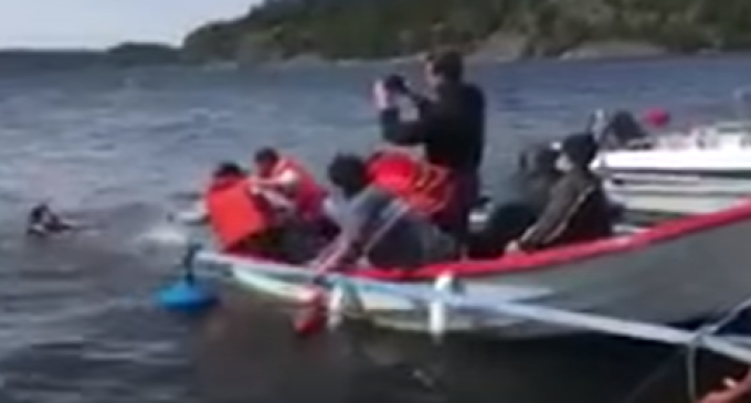 Video Allegedly Shows Staged Refugee Drowning
