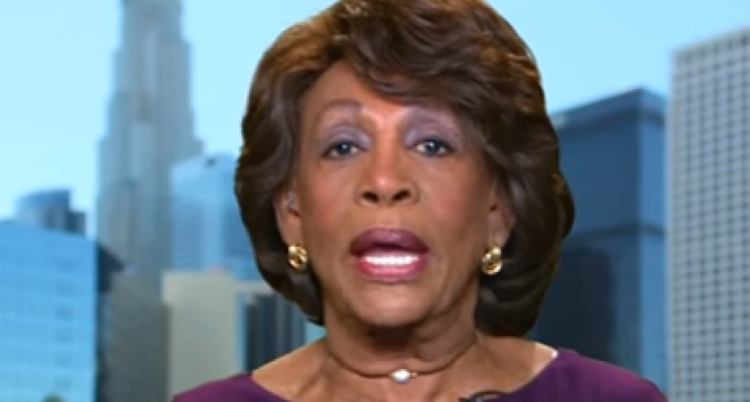 Maxine Waters Claims President Trump is Affiliated with the KKK, Renames White House