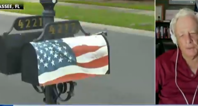 Navy Veteran Ordered to Remove American Flag Wrap from His Mailbox