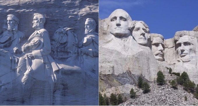 Leftist Anarchists Look to Destroy Mount Rushmore and Stone Mountain