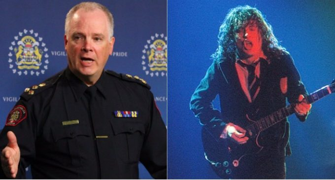 """Calgary Police:  """"If You Love AC/DC, You May Be A Neo-Nazi!"""""""