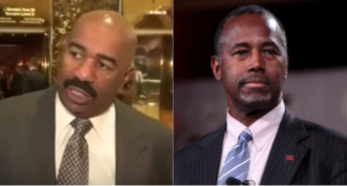 Steve Harvey Attacked for Teaming Up with Trump Administration
