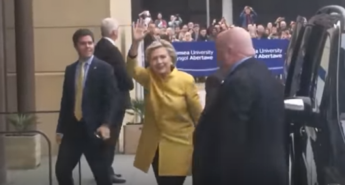 "Hillary Booed and Called ""Fascist"" as She Arrives in Wales for Honorary Doctorate"