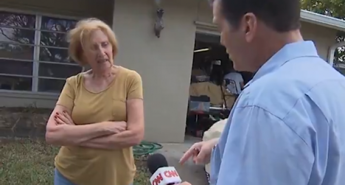 CNN Harasses Conservative Senior Citizen at Her Home