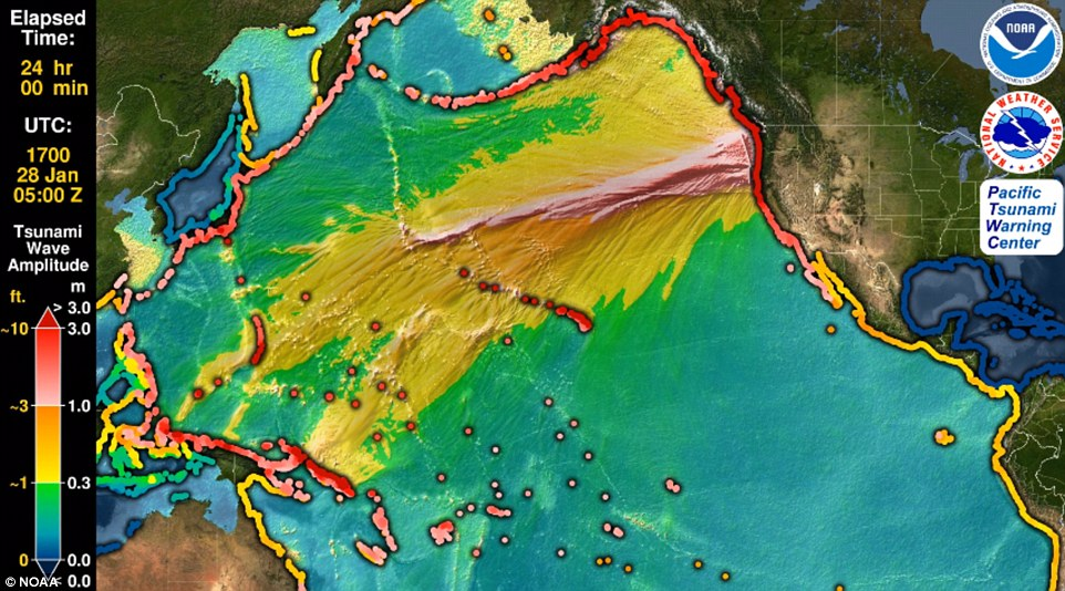 NOAA Cascadia Earthquake Simulation