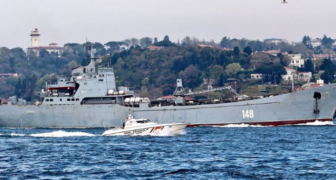 Russian Warships Loaded with Tanks, Alligator Ships, Armoured Patrol Boats En Route to Syria