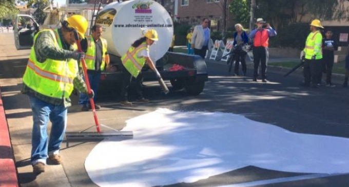 Los Angeles Begins Painting Streets White to Combat Climate Change