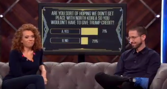 TV Poll: 71% of Liberals Don't Want Peace With North Korea Because Trump Would Get Credit