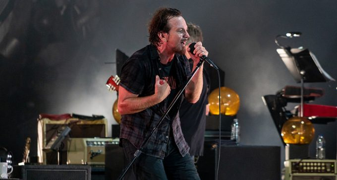 Pearl Jam Poster Promoting Sen. Jon Tester Depicts Dead Donald Trump