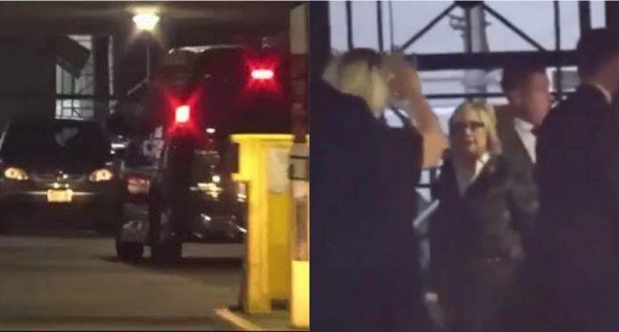 Hillary Clinton's Van Crashes Into Garage Pillar at Bob Menendez Fundraiser
