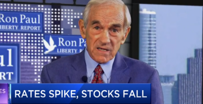 Ron Paul: An Unavoidable 50% Stock Market Plunge is Coming