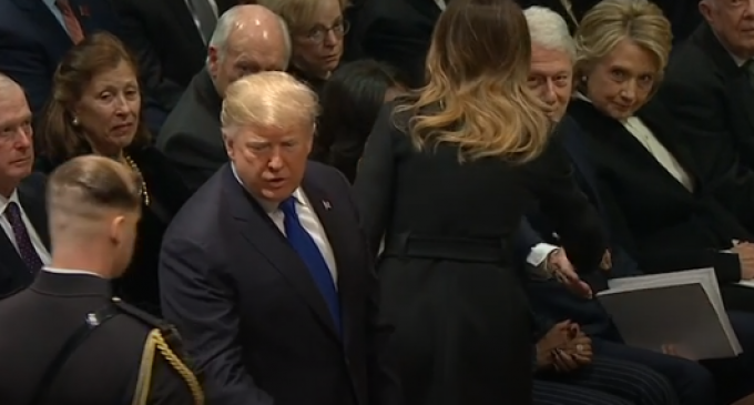 Melania Trump Shakes Hands with Bill Clinton, Hillary Refuses