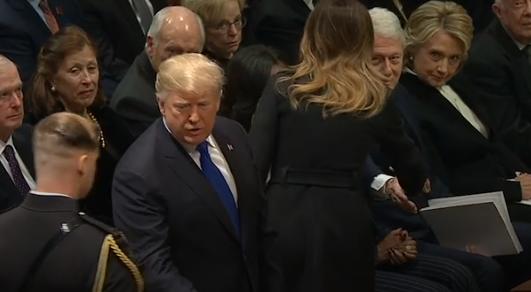 Melania Trump Shakes Hands with Bill Clinton, Hillary Refuses