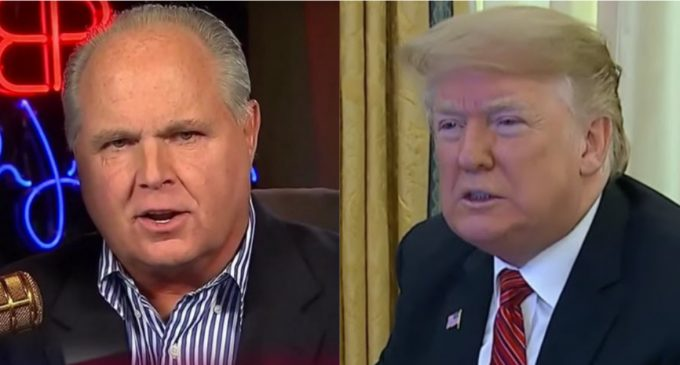 Limbaugh to Trump: 'Hold Firm' on Wall Funding, 'This Shutdown is One That the Democrats Own'