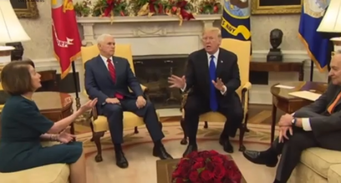 Trump, Pelosi and Schumer Clash in Explosive Oval Office Meeting