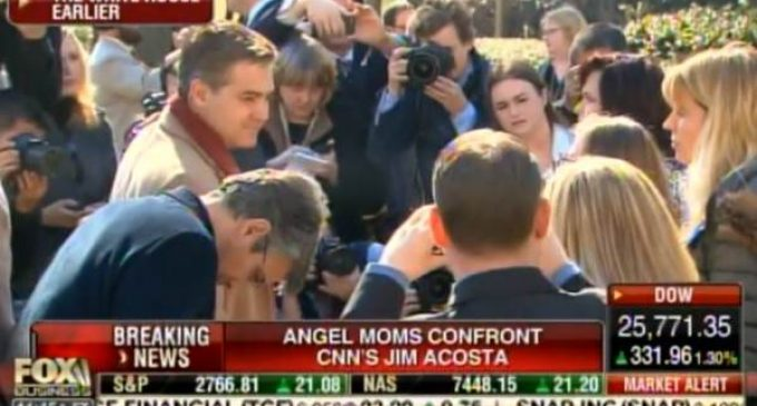 Angel Moms Surround, Confront Jim Acosta After Press Conference