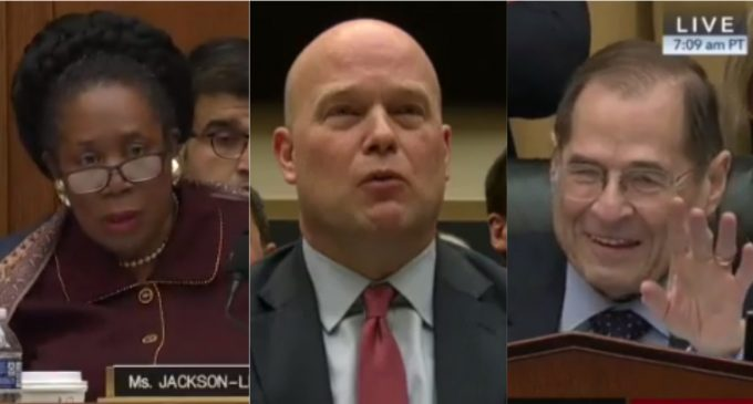 """Acting AG Whitaker to Chairman: """"Your Five Minutes Is Up"""""""