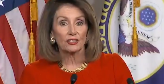 WH Official: Pelosi Attempted to Slip Federal Funding for Abortion into Coronavirus Bill