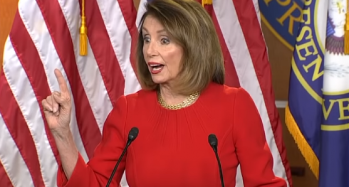 """Angry Pelosi Backhands Podium: """"Show us the Mueller Report, Show us the Tax Returns"""""""