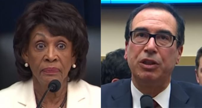 Waters Hits Mnuchin With Gavel of Condescension in Heated Exchange