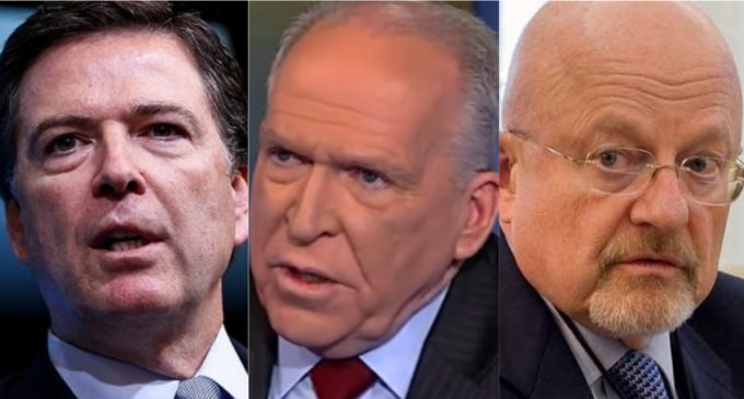 Comey, Brennan, Clapper Accuse One Other of Advocating 'Pee Pee' Dossier be Used as Evidence