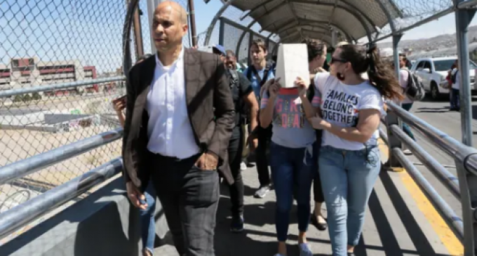 Cory Booker Accused of 'Breaking the Law' After Escorting Deported Migrants Back Across the Border
