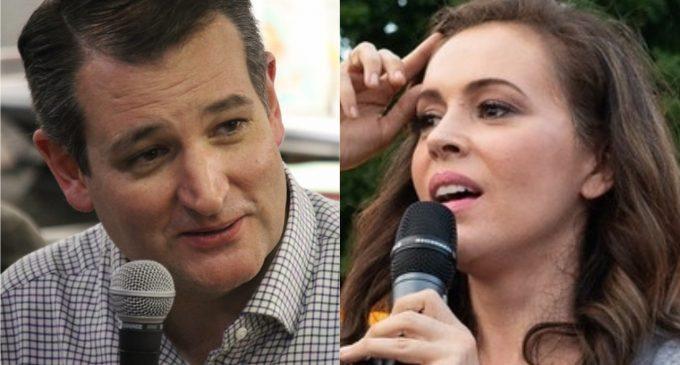Sen. Cruz Accepts Alyssa Milano's Challenge to Debate Gun Violence