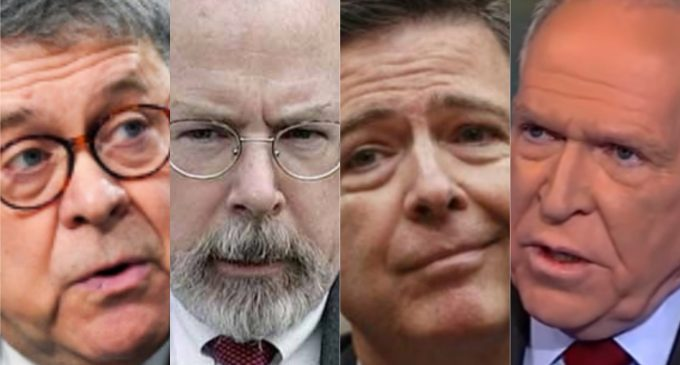 Report: Brennan, Comey 'Lawyer Up' as Durham, Barr Construct 'The Gallows'
