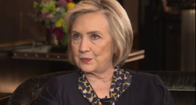 "Hillary Clinton Threatens America With 2020 Run:  ""I'll Never Say Never"""