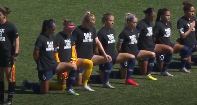 NWSL Players Kneel During National Anthem for Black Lives Matter