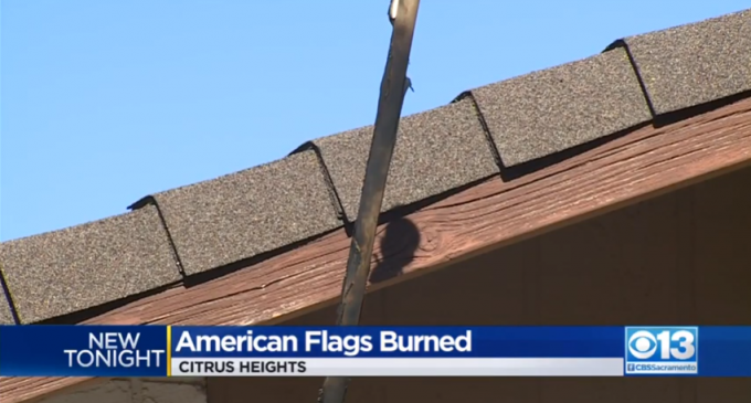 Arsonists Target Homes Displaying American Flags