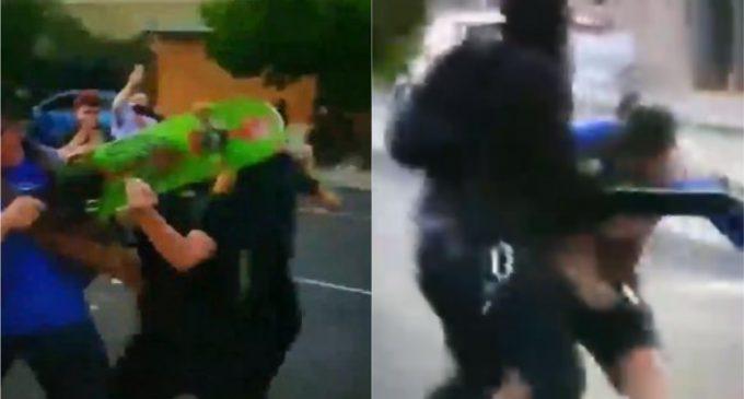 Antifa Attacks Man With Skateboard, Gets Shot