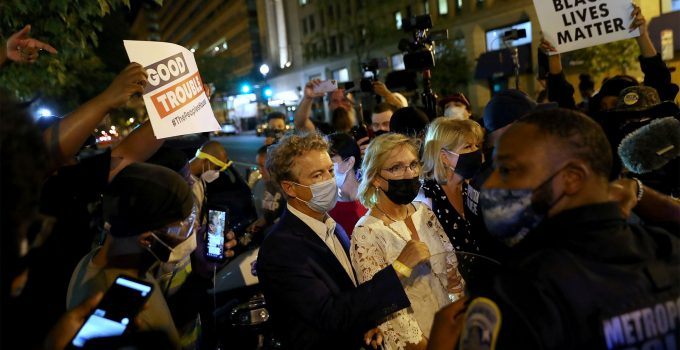 Sen. Rand Paul and Wife Accousted, Chased Down Street By BLM