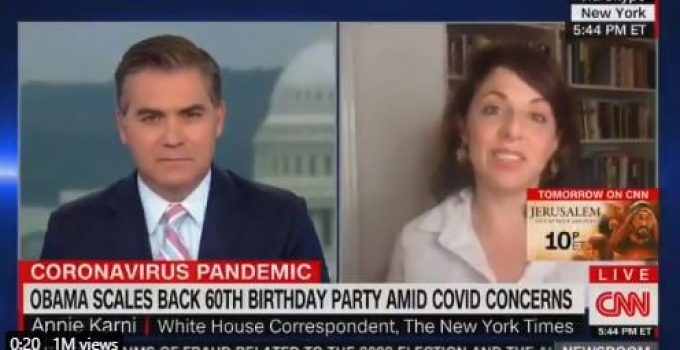 """NYT Reporter Defends Obama's Maskless B'day Party, """"This Is a Sophisticated, Vaccinated Crowd"""""""