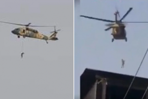 Video Purportedly Shows Taliban Hanging Man From Blackhawk Helicopter