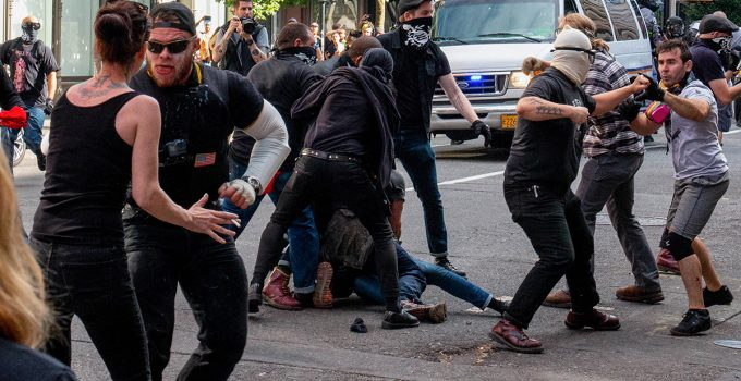 Shots Fired as Antifa, Proud Boys Clash on Portland Streets with Explosives, Weapons