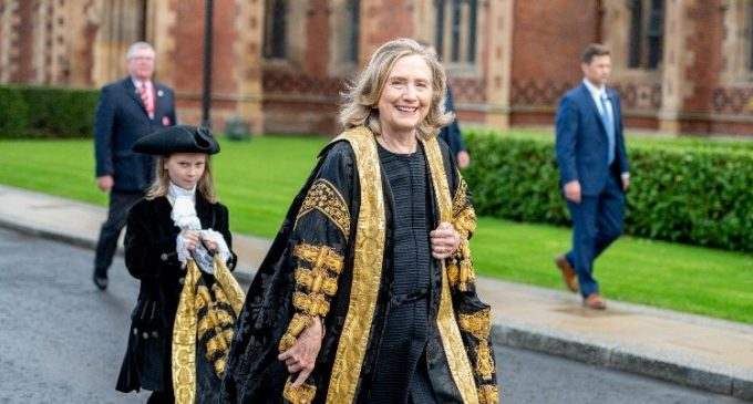 """Hillary Clinton Booed, Heckled as """"War Criminal"""" in Northern Ireland"""