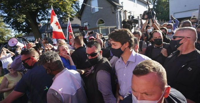 Justin Trudeau Pelted With Rocks at Campaign Event