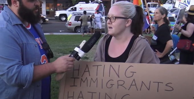 Stunning Video Questions Low IQ of Antifa Protesters