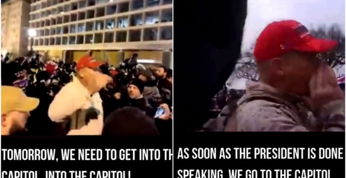 Video Surfaces of Mystery Man Goading Trump Supporters to 'Enter Capitol'