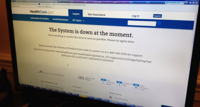ObamaCare Exchanges Crash Minutes After Launch for Congressman