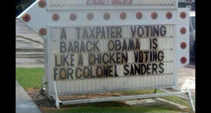 A Taxpayer Voting for Obama is Like…