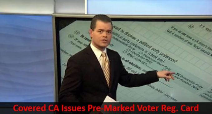 Covered California Issues Voter Registration Card Already Marked For Democratic Party