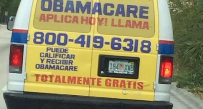 """Free Obamacare"" Vans Cruise Miami Streets As Obama Reassures Hispanics"